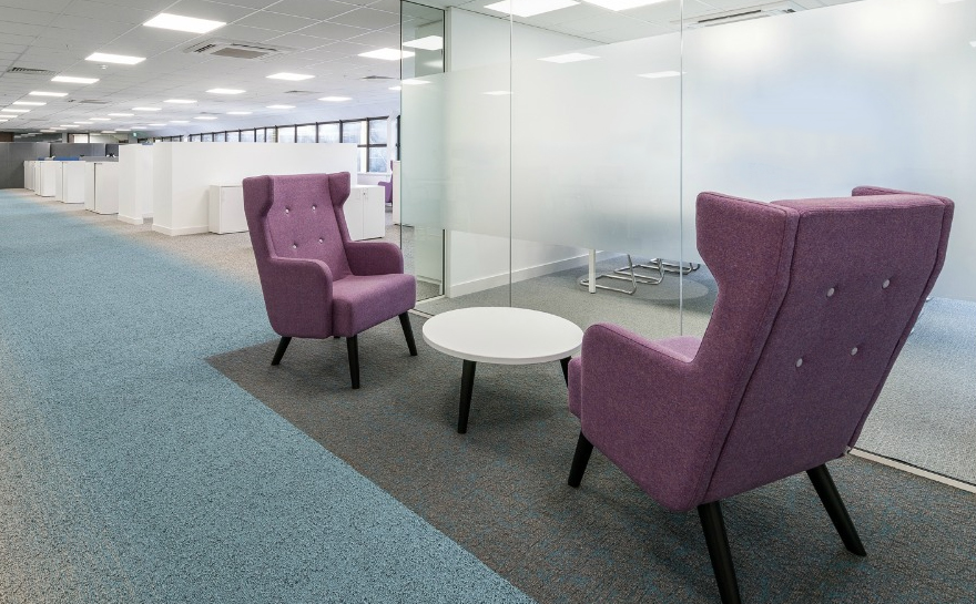 Breakout Area Office Flooring Design Inspiration